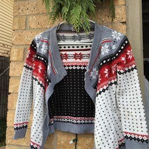 Winter isle open front sweater